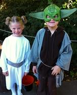 Princess Leia and Yoda Homemade Costume