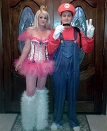 Princess Peach and Mario Homemade Costume