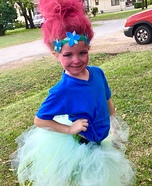 Princess Poppy Troll Homemade Costume