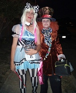 Psychedelic Alice & Mad Hatter Homemade Costume