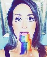 Puking Rainbow Snapchat Filter Homemade Costume