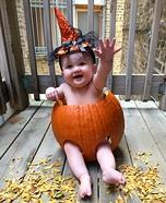 Pumpkin Baby Homemade Costume