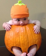 Pumpkin Baby Homemade Costume