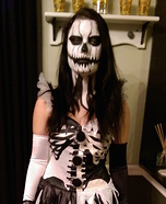 Pumpkin Skelequin Homemade Costume