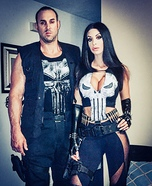 Punishers Couple Homemade Costume