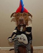 Punk Rocker Dog's Halloween Costume