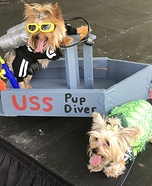 Pup Diver & Sea Turtle Homemade Costume