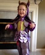 Purple Glitter Dragon Homemade Costume
