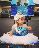 Queen Elsa's Ice Castle Homemade Costume