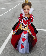 DIY Queen of Hearts Costume for Girls