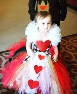 Queen of Hearts Baby Homemade Costume