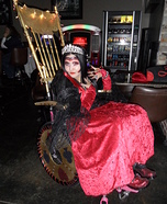 Queen of Hearts and her Throne Homemade Costume