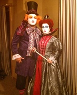 Queen of Hearts and Mad Hatter Couple Costume