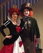 Queen of Hearts and Mad Hatter Homemade Costume