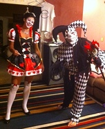 Queen of Hearts & Evil Jester Homemade Costume