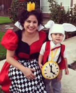 Queen of Hearts & White Rabbit Homemade Costume