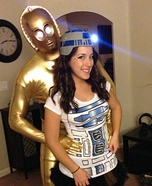 Couples Halloween costume idea: R2D2 and C3P0 Couple Costume