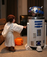 R2-D2 and Princess Leia Costumes