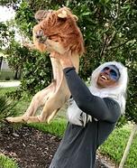 Rafiki and Simba Homemade Costume