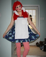 Rag Doll Raggedy Ann Homemade Costume