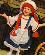 Little Raggedy Ann Homemade Costume