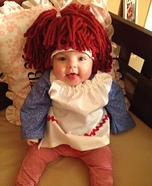Costume ideas for baby's first Halloween - Raggedy Ann Costume