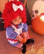 DIY Raggedy Ann Baby Costume