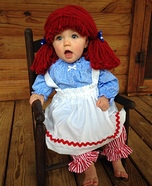 Cute baby costume ideas: Raggedy Ann Homemade Costume