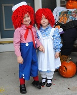 Children's book Halloween costumes - Raggedy Ann and Andy Costumes