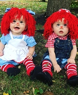 Raggedy Ann and Andy Homemade Costume