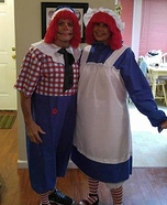 Raggedy Ann and Andy Couple Costume