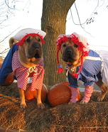 Raggedy Ann and Andy Dogs Homemade Costume