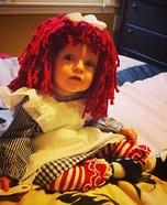 Raggedy Ann Baby Homemade Costume