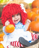 Raggedy Ann in a Pumpkin Patch Homemade Costume