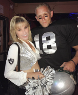 Raiderette Cheerleader & Football Player Homemade Costume