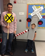Railroad Crossing Signal Homemade Costume