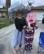 Rain Cloud and Lightning Homemade Costume