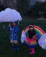 Rainbow and Storm Homemade Costume