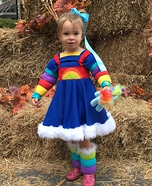 Rainbow Brite Homemade Costume
