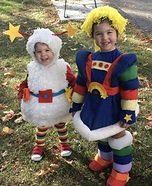 Rainbow Brite & her sidekick Twink Homemade Costume