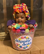 Rainbow Dippin' Dots Homemade Costume
