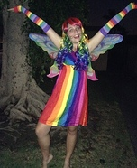 Rainbow Fairy Homemade Costume