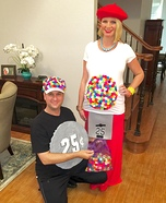 Rainbow Gumball Machine Homemade Costume