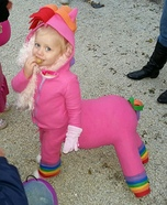 Rainbow Horse Baby Homemade Costume