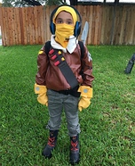 Raptor from Fortnite Homemade Costume