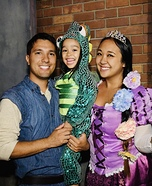 Rapunzel, Flynn Rider and Pascal Homemade Costume