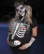 Skeleton Costume for Pregnant Women