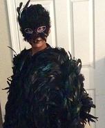 Raven Girl's Homemade Costume