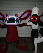 Real Monsters Ickis & Oblina Homemade Costumes