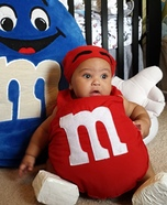 Red M&M Baby Homemade Costume